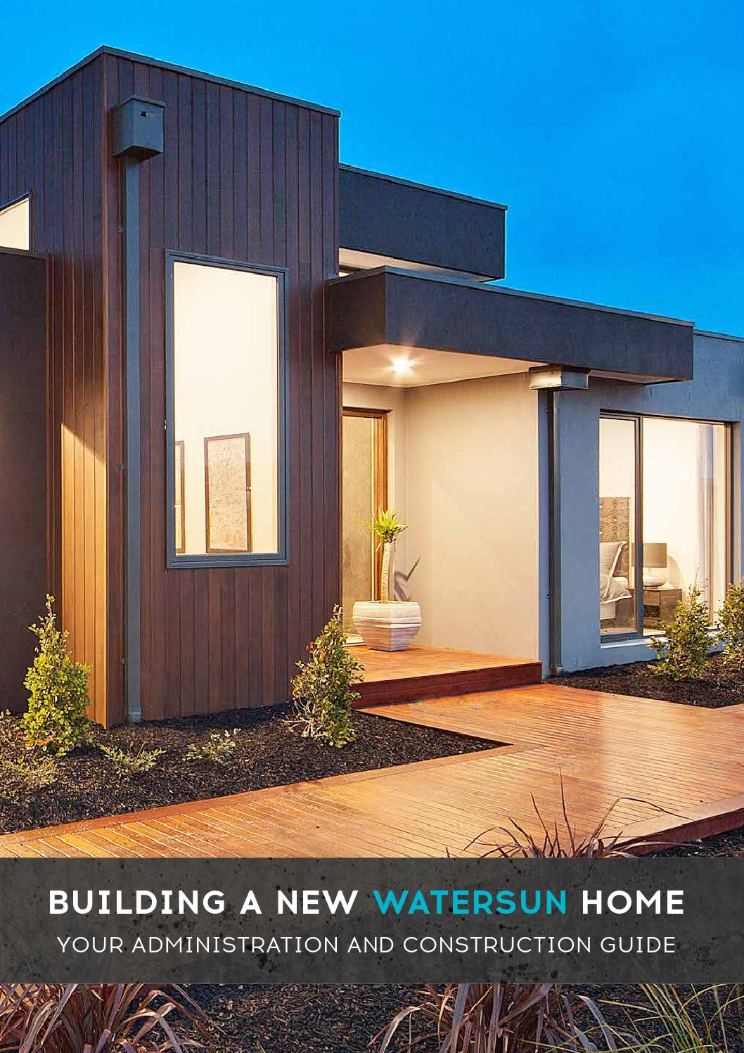 Building a new watersun home your administration and for Home building guide