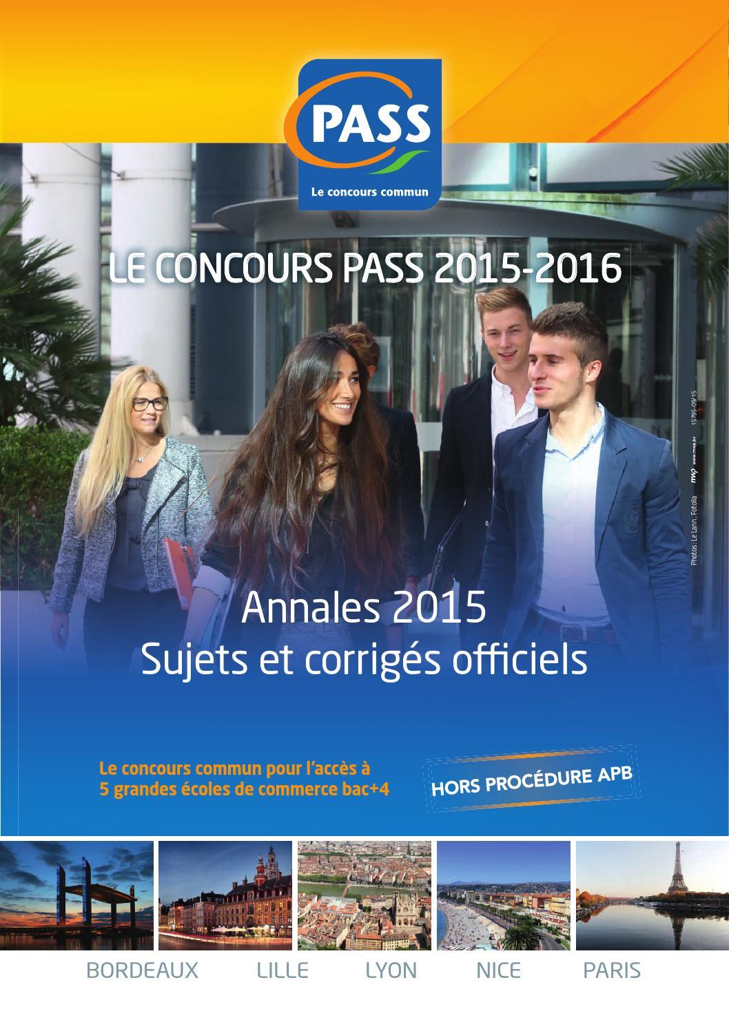 inseec docs annales concours pass