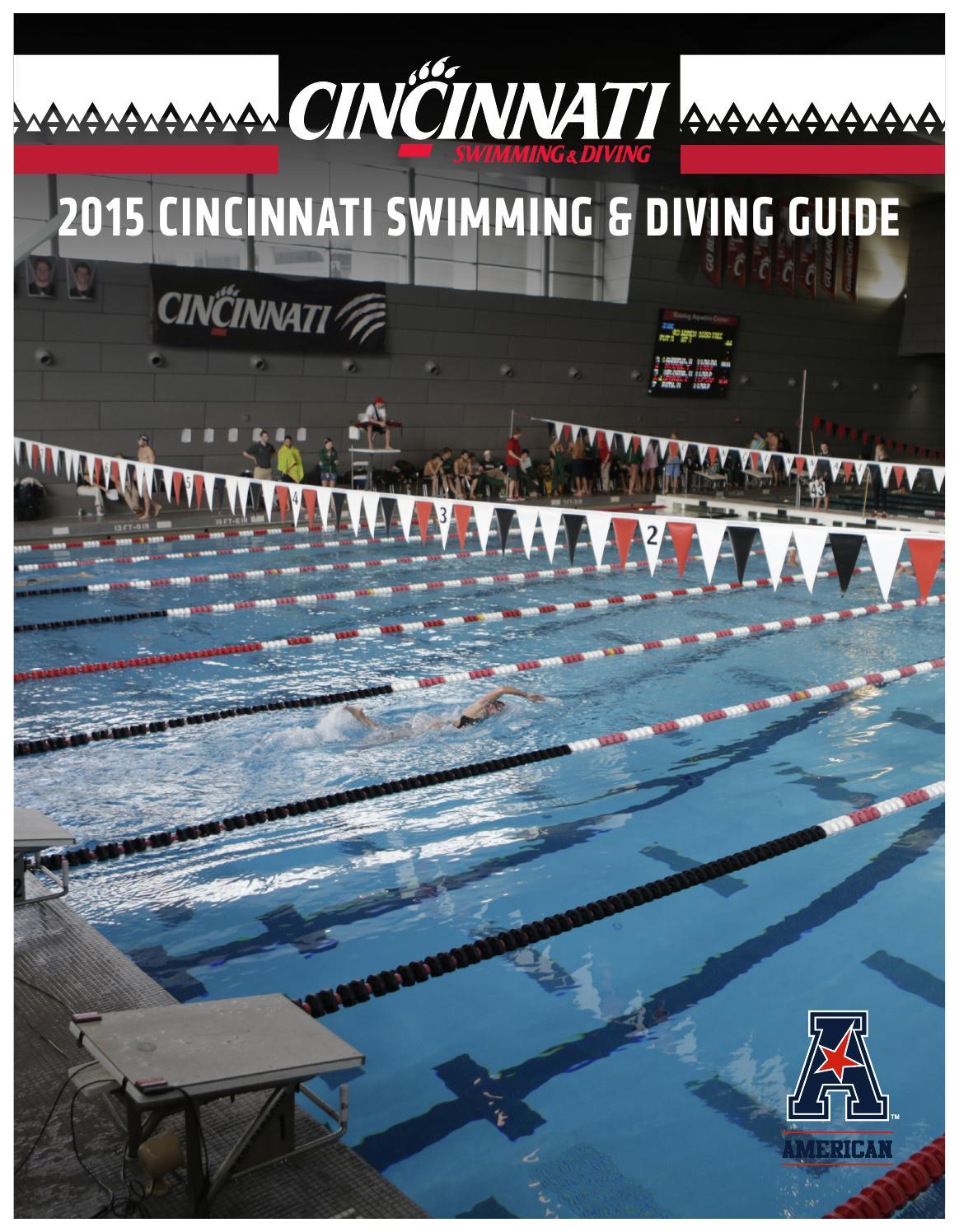 2015 16 cincinnati swimming diving guide by ucbearcats issuu for University of cincinnati swimming pool