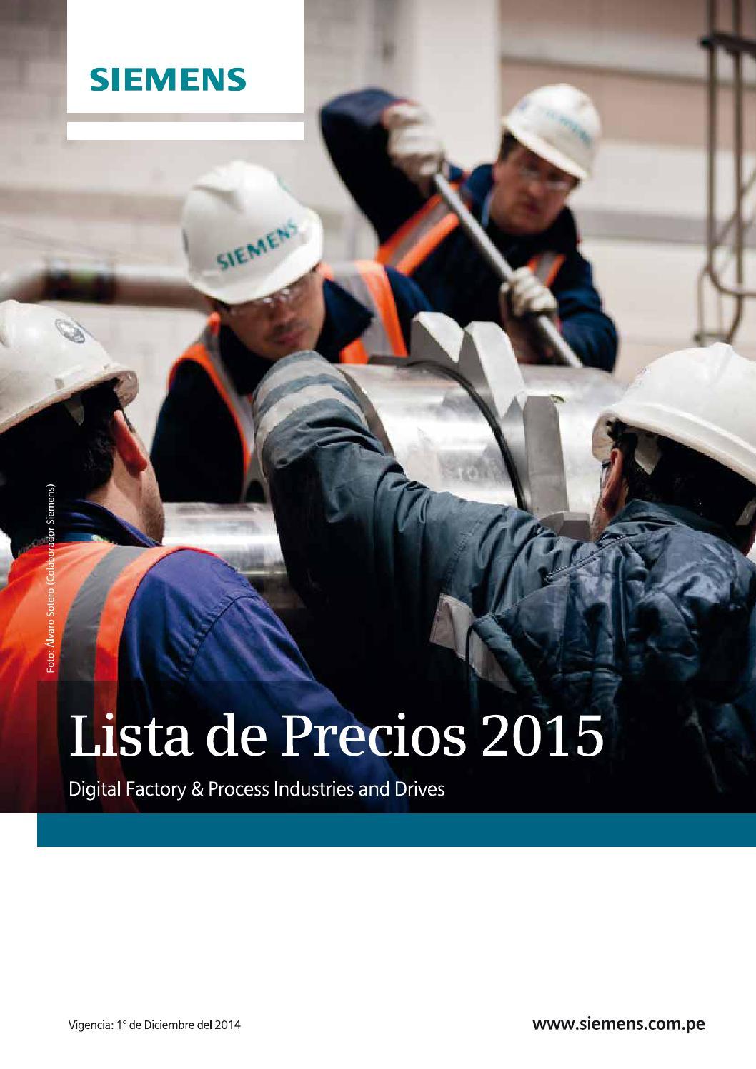 Lista De Precios Siemens Diciembre 2015 By Enriquegrande