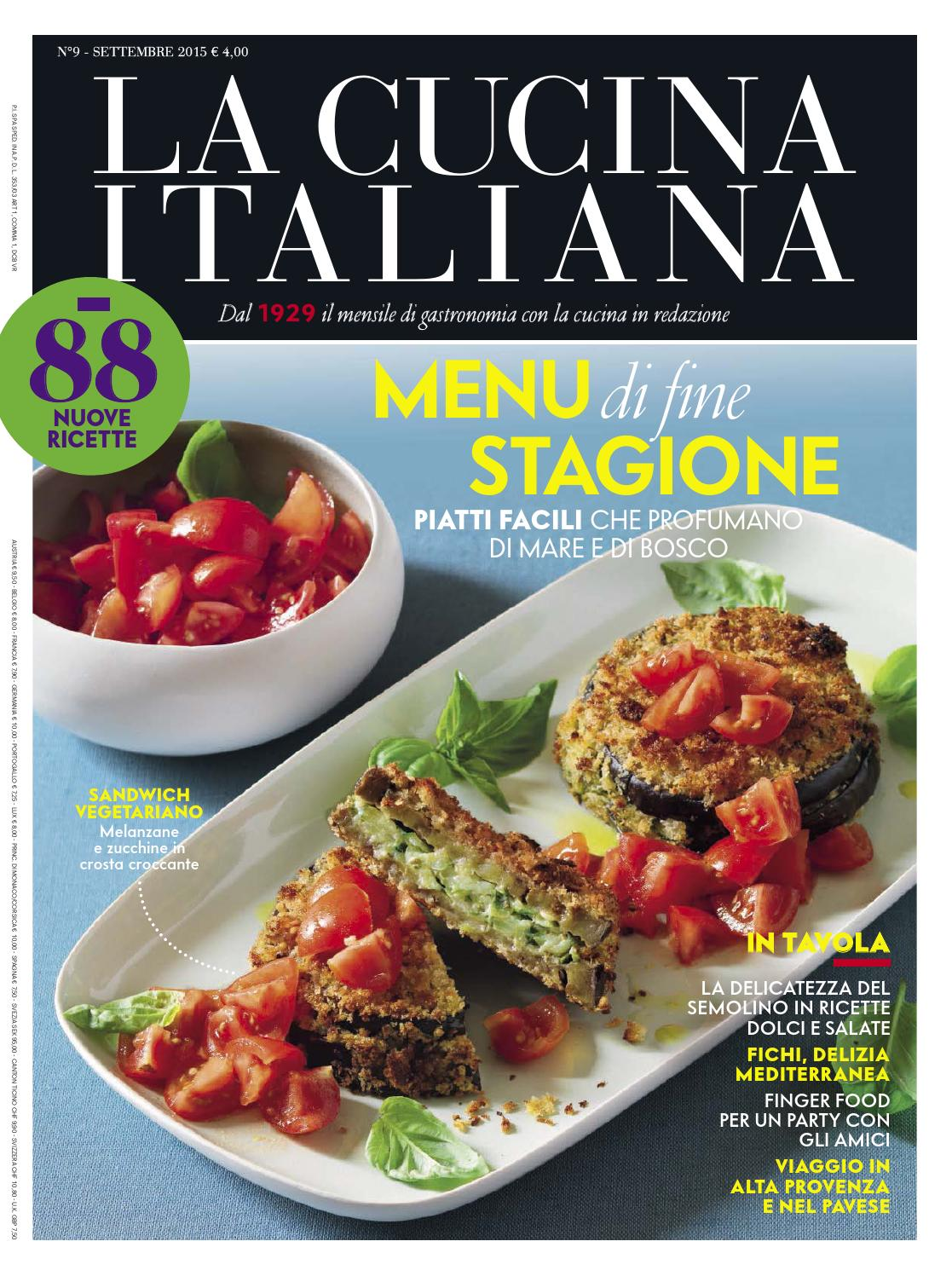 La Cucina Italiana Settembre 2015 By Melik Issuu