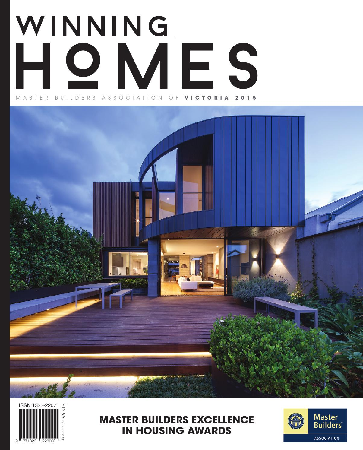 2015 master builders victoria winning homes magazine by for Home building magazines