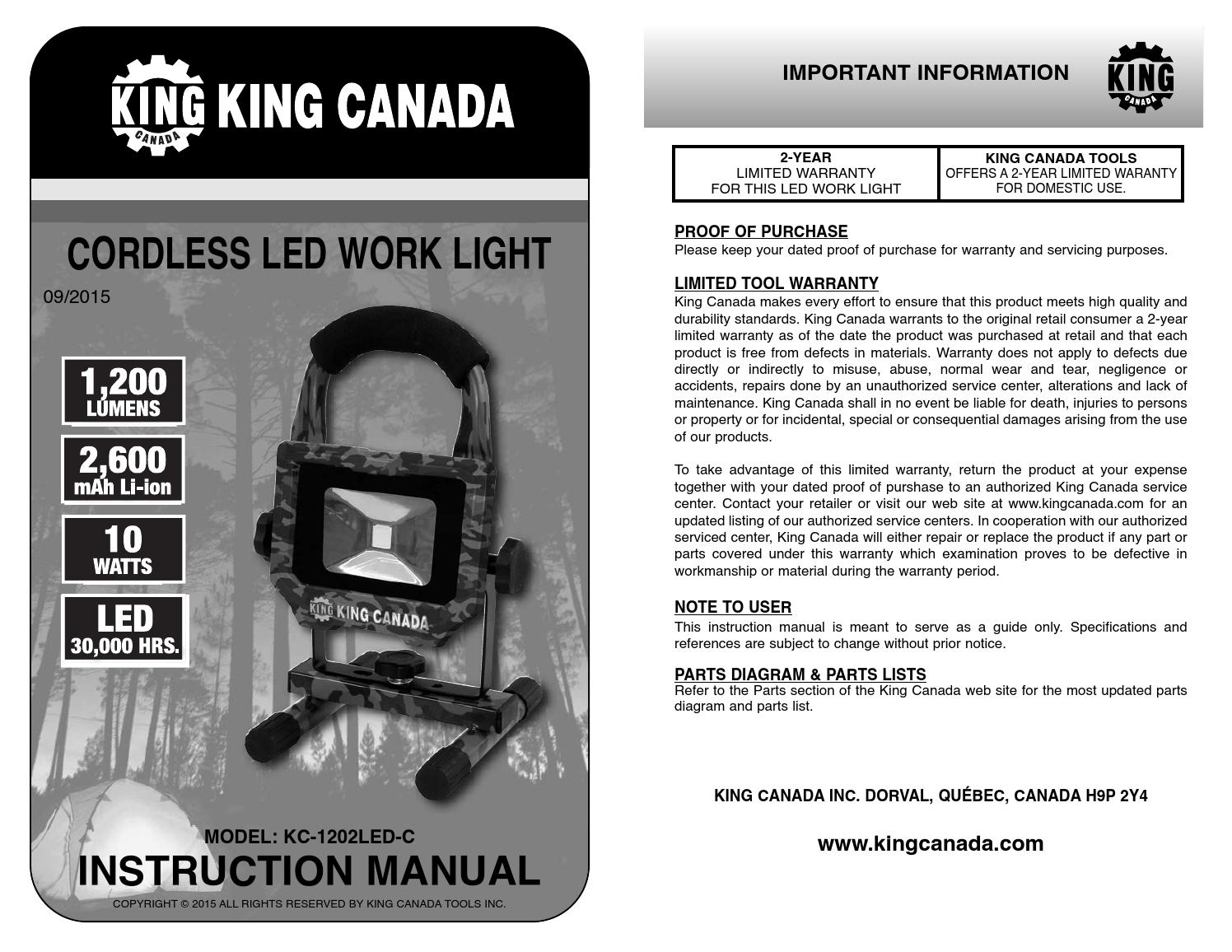 Trailer Work Lights Manual Guide