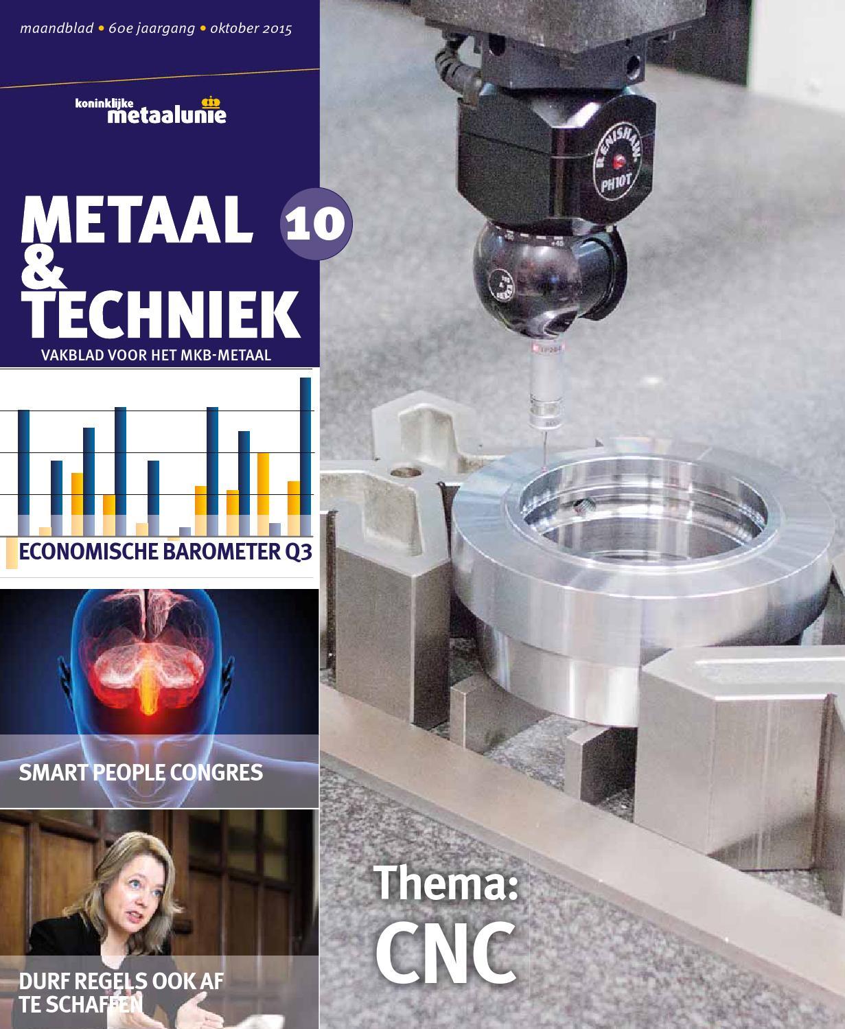 Metaal & Techniek April 2016 by Koninklijke Metaalunie - issuu