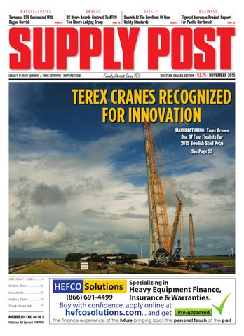 Supply Post Western Cover - November 2015