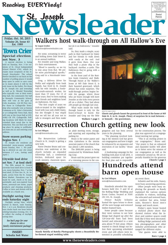 ^ St. Joseph Newsleader - Oct. 30, 2015 by he Newsleaders - issuu