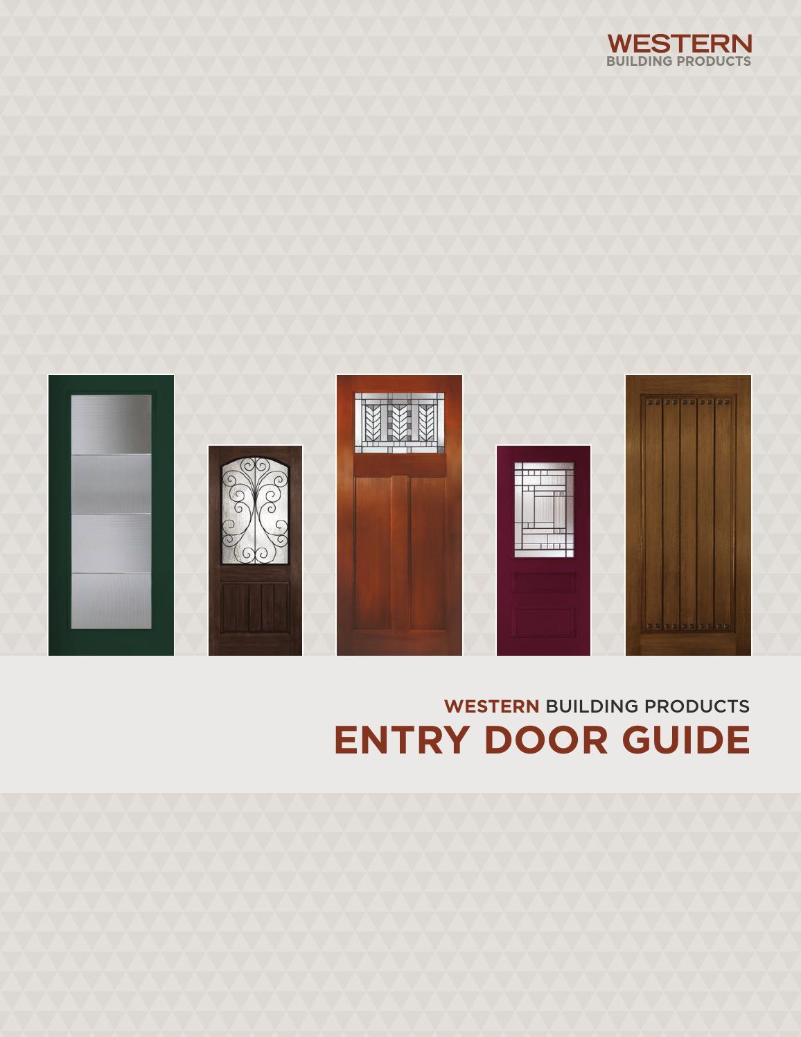 western building products exterior door brochure by bassbone issuu ForWestern Building Products Exterior Doors