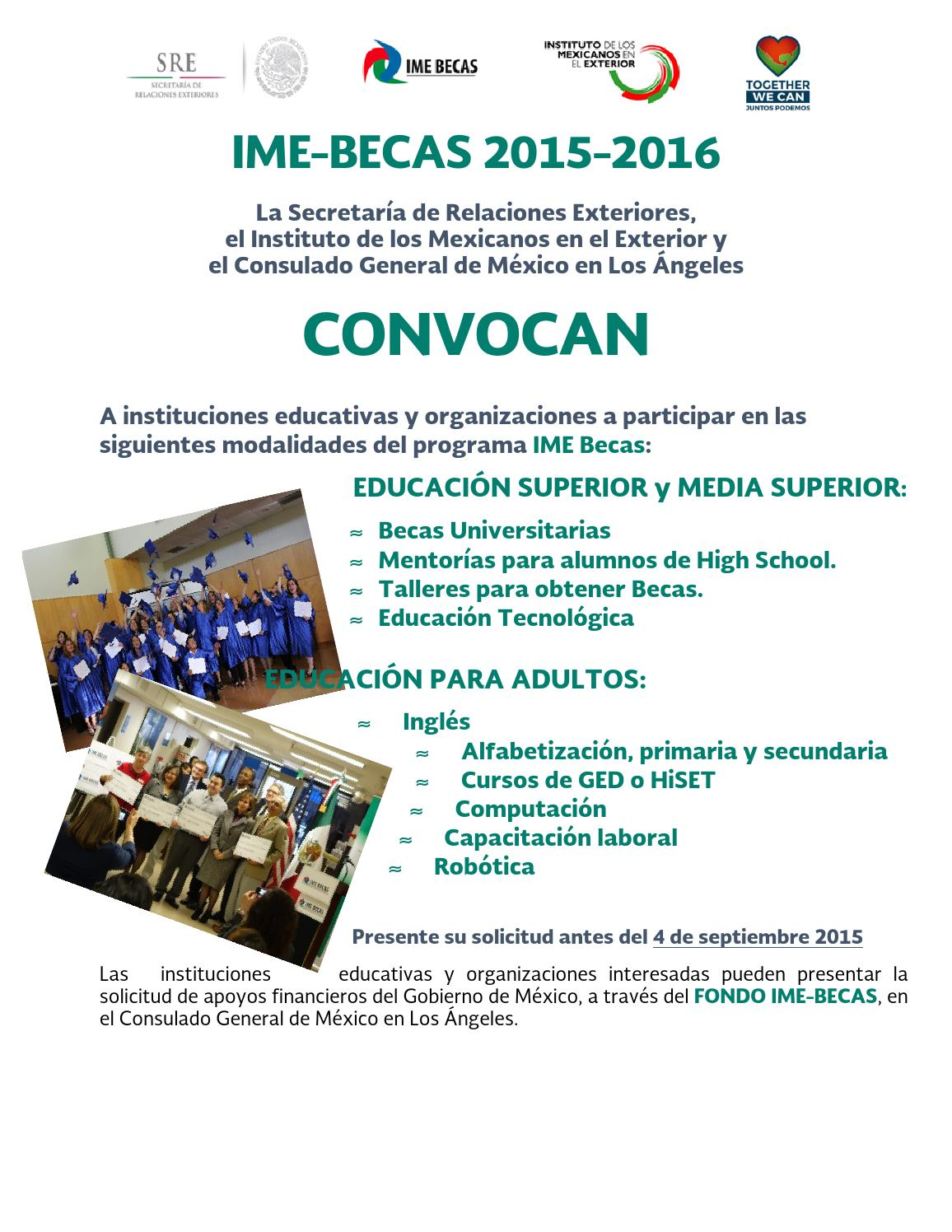 Ime Becas 2015 2016 By Consulmex Los Angeles Page 1 Issuu