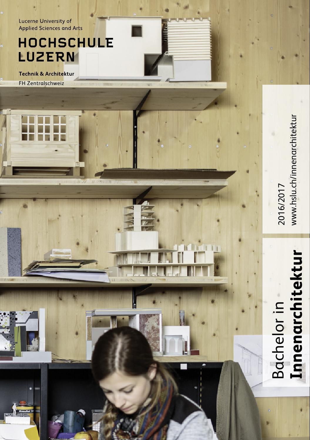 Studienf hrer bachelor innenarchitektur 2016 2017 by for Innenarchitektur bachelor
