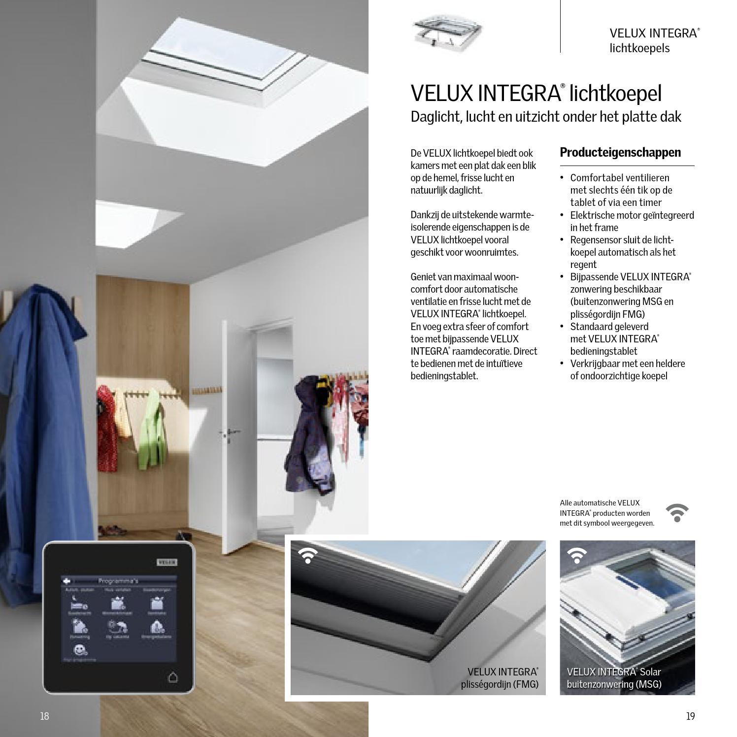 velux integra brochure velux by velux nederland b v. Black Bedroom Furniture Sets. Home Design Ideas