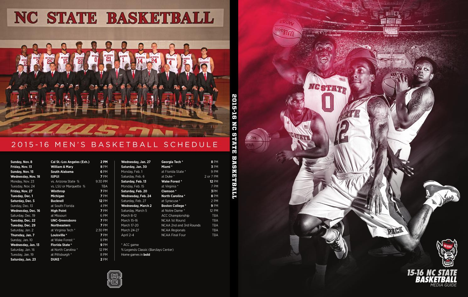 2015 16 nc state basketball media guide by nc state issuu - Garden state healthcare associates ...