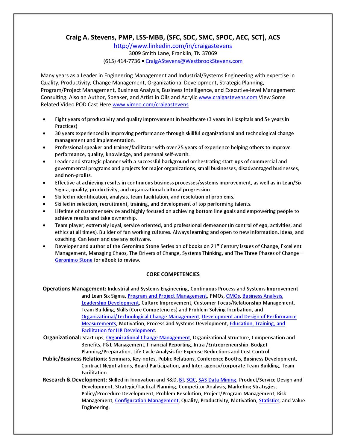 20151003 stevens complete resume by craig stevens