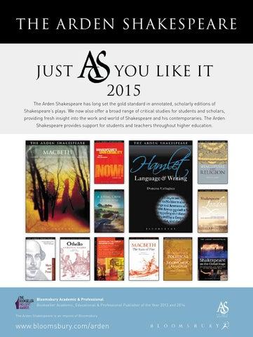 Arden supplement 2015 -- Bloomsbury Publishing
