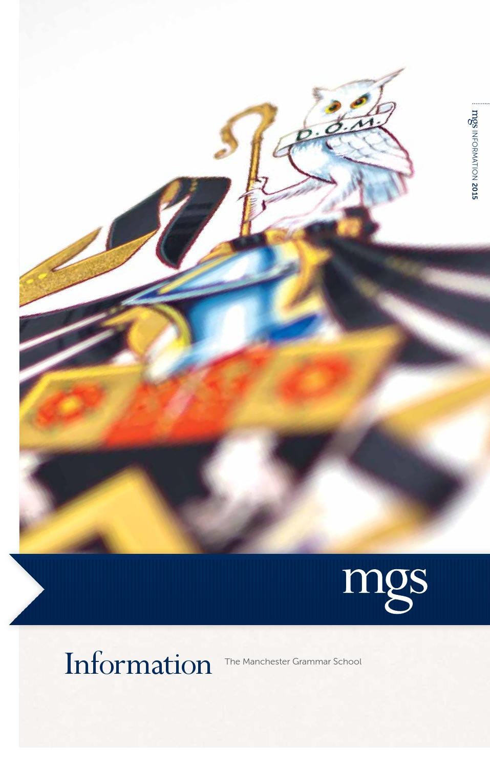 The Manchester Grammar School Information Booklet By Cleverbox Uk Ltd Issuu