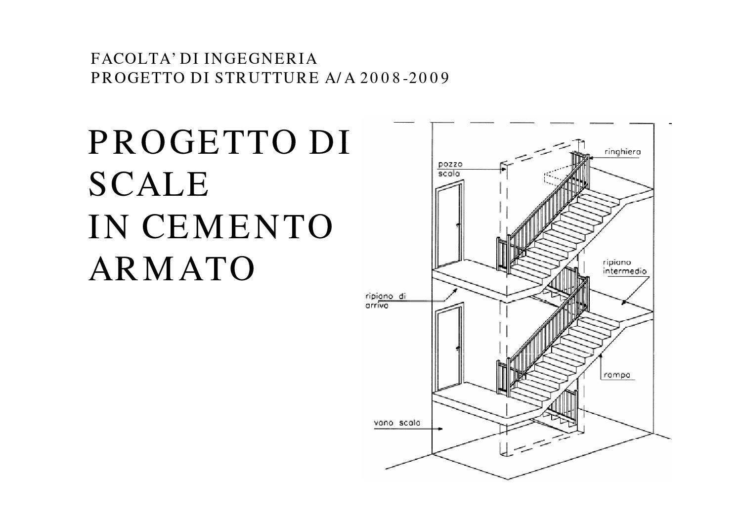Progetto di scale in ca by carlo fiumano 39 issuu - Scale in cemento armato ...