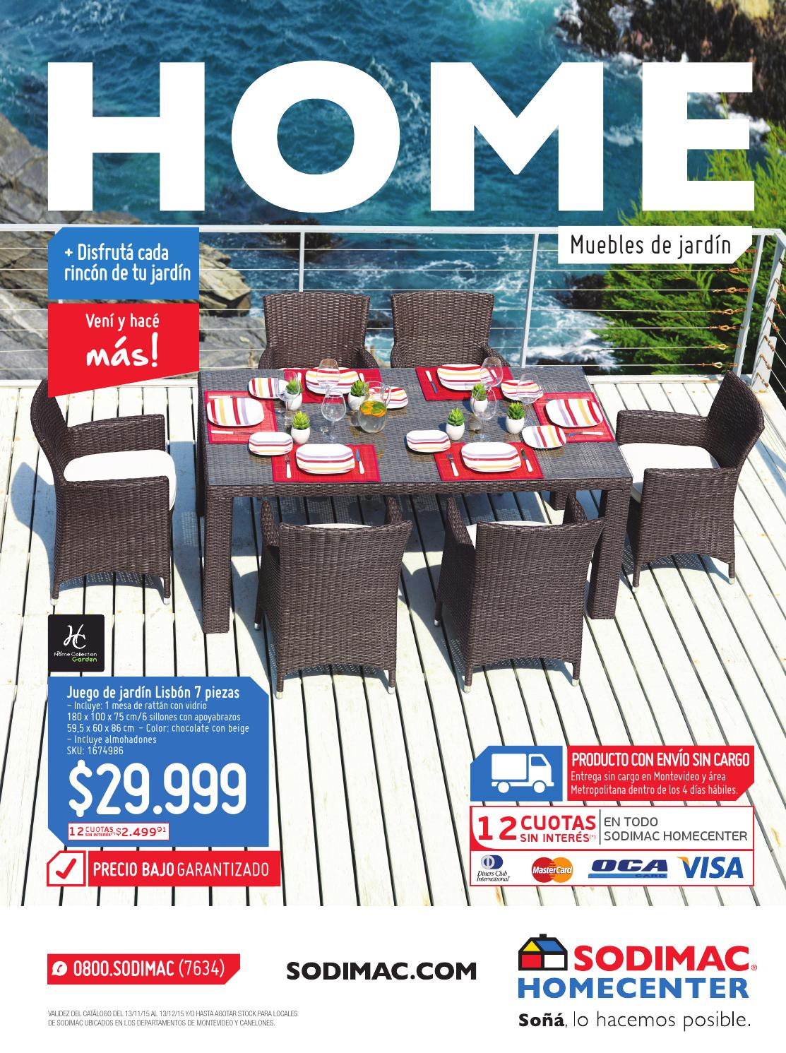 Sodimac homecenter cat logo especial muebles de jard n for Muebles plastico jardin