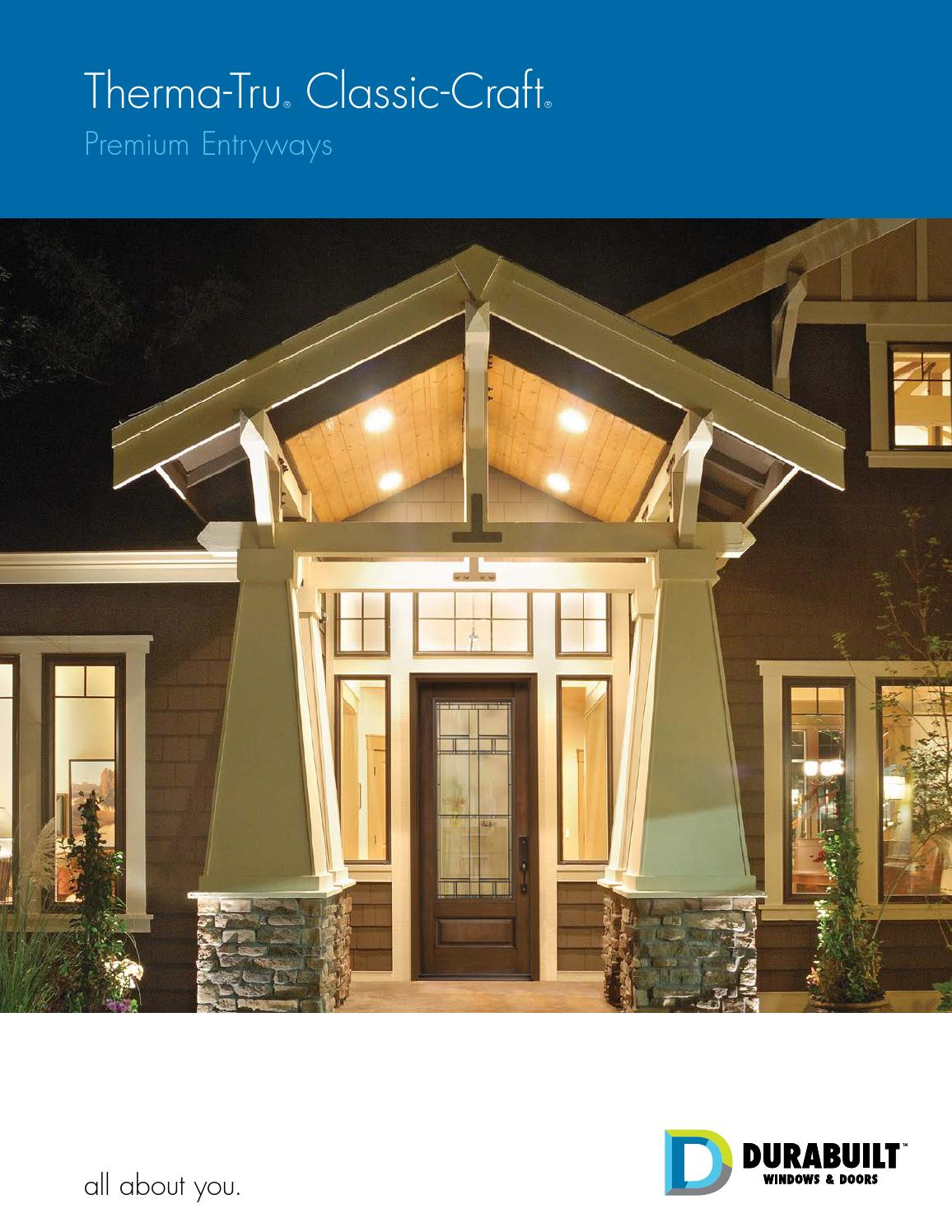 Therma Tru Classic Craft Premium Entryway By