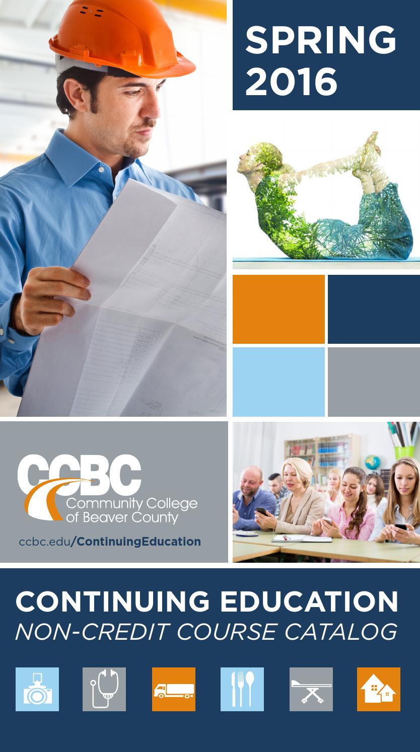 ccbc spring 2016 continuing education catalog by community. Black Bedroom Furniture Sets. Home Design Ideas