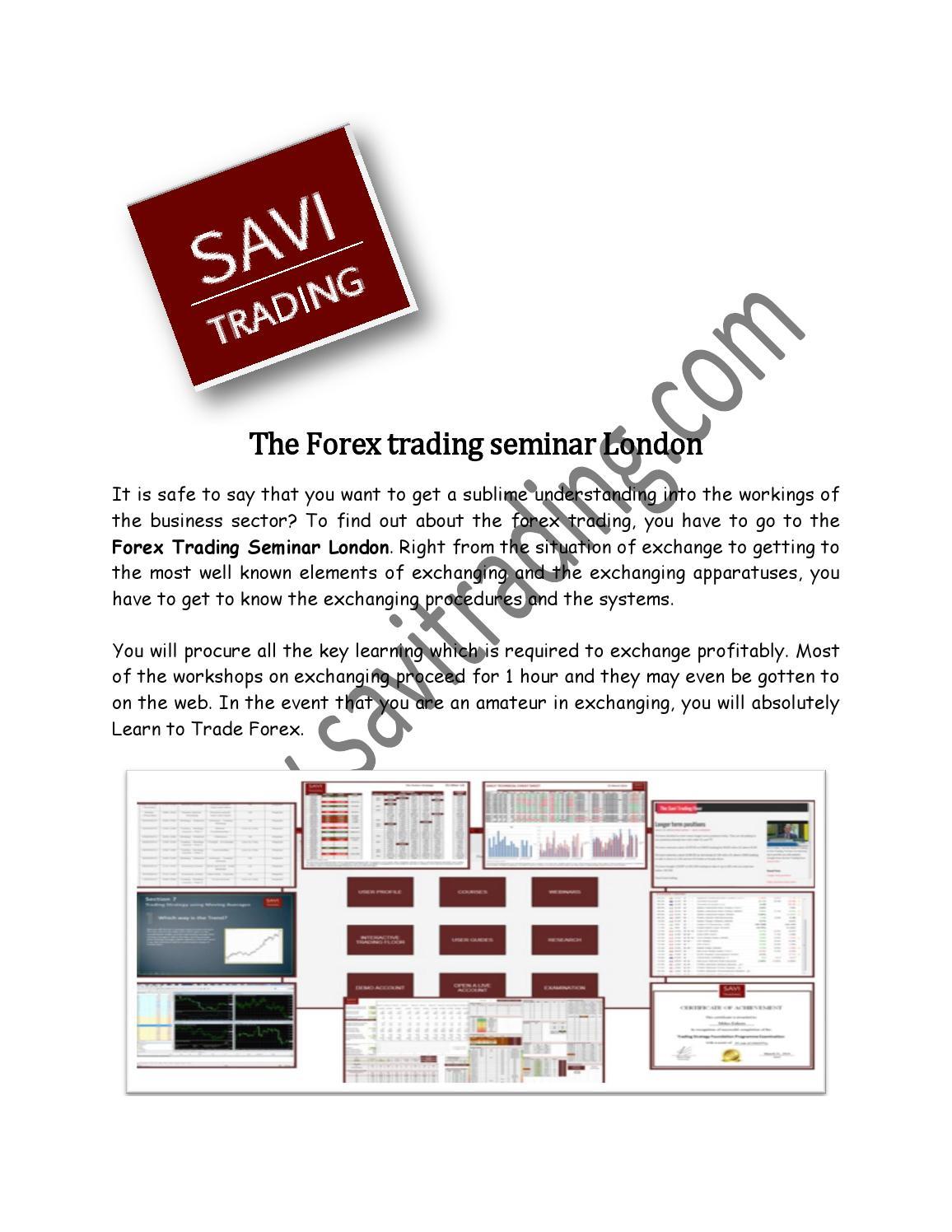 Forex trading workshop london