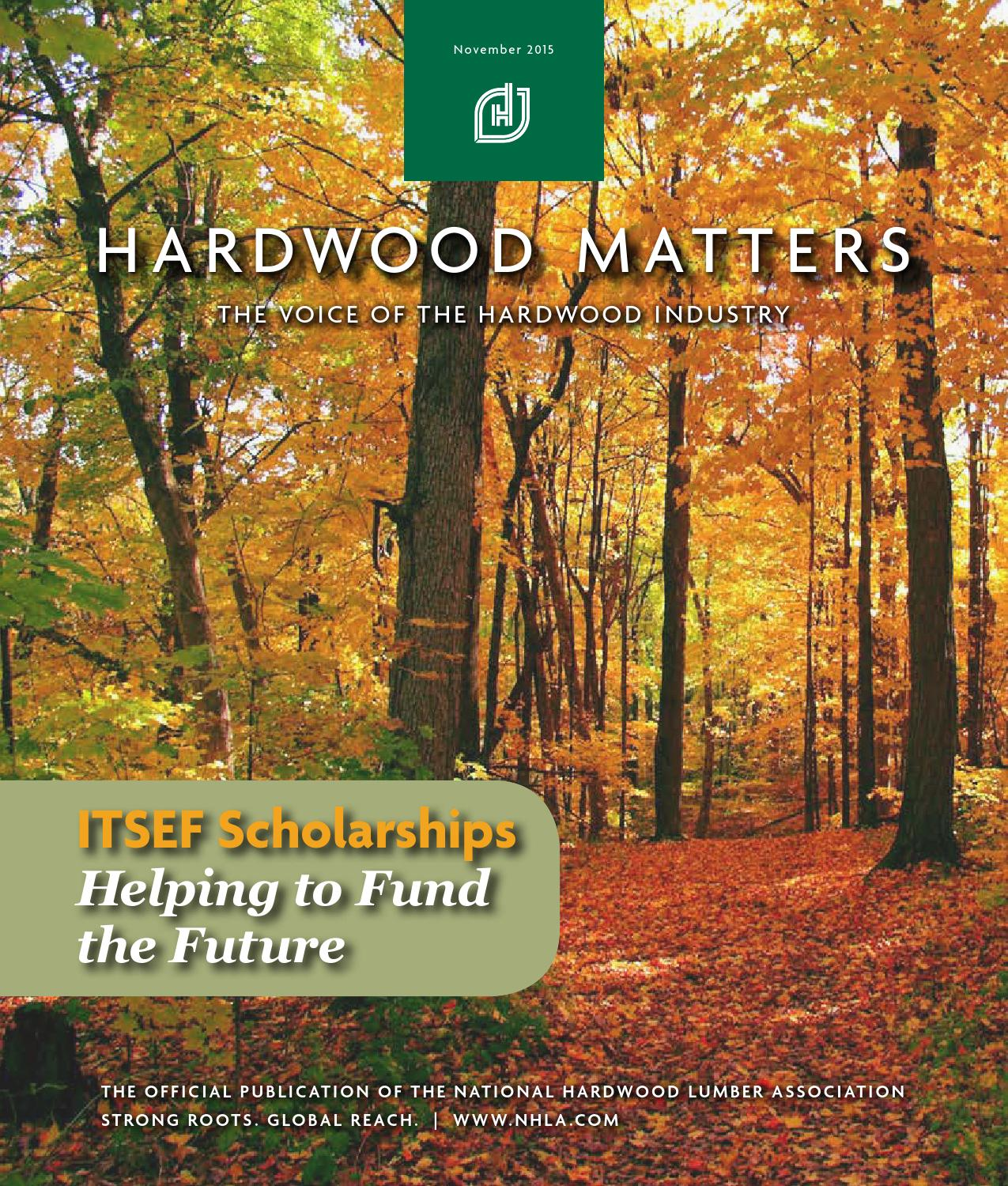 National Hardwood Lumber Association ~ November hardwood matters by national lumber