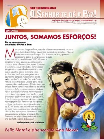 "[Informativo ""O Senhor te dê a Paz"" (Dez. 2015/Jan. 2016)]"