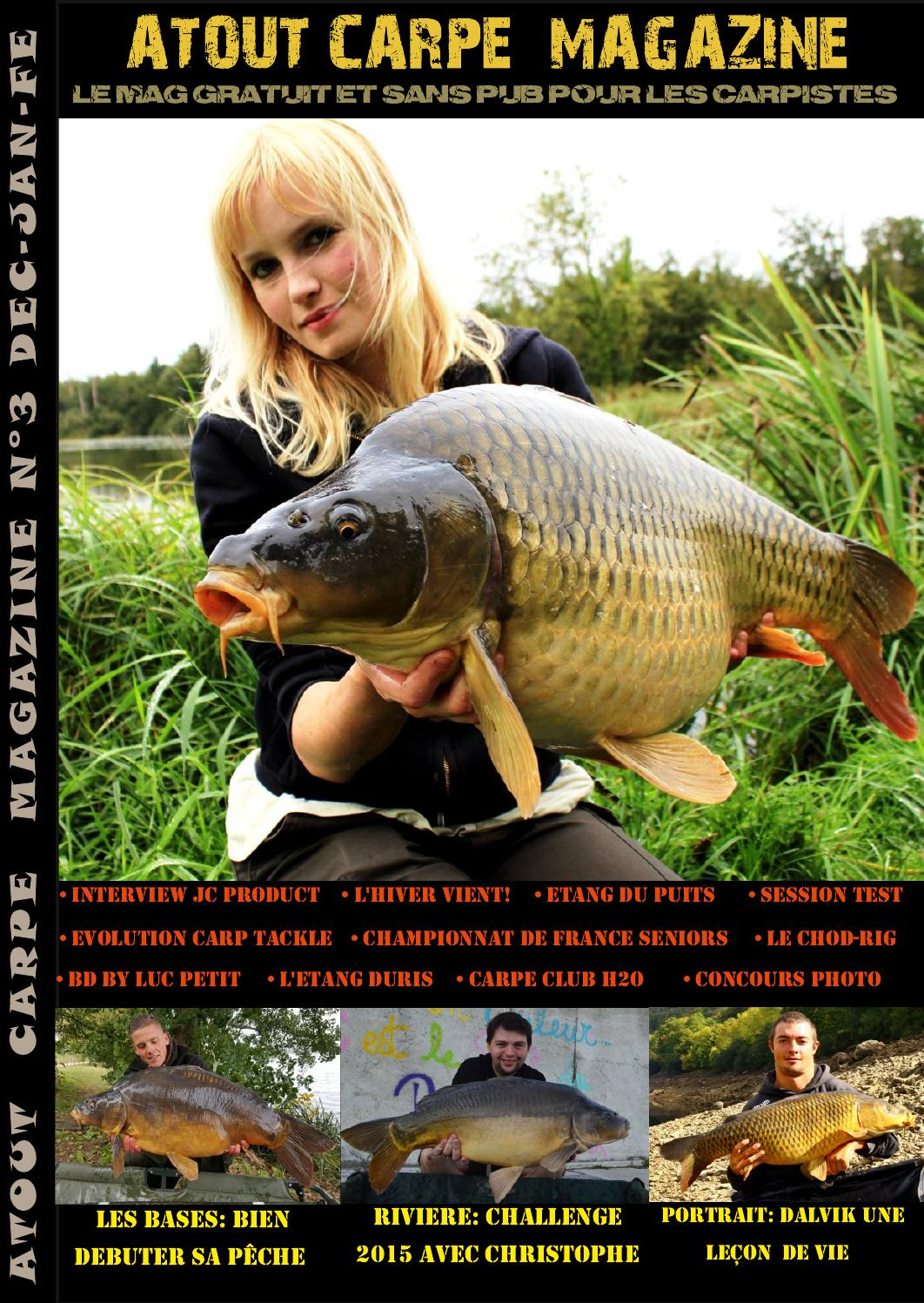 Atout carpe magazine n 3 by atout carpe magazine 100 for Acheter carpe pour etang
