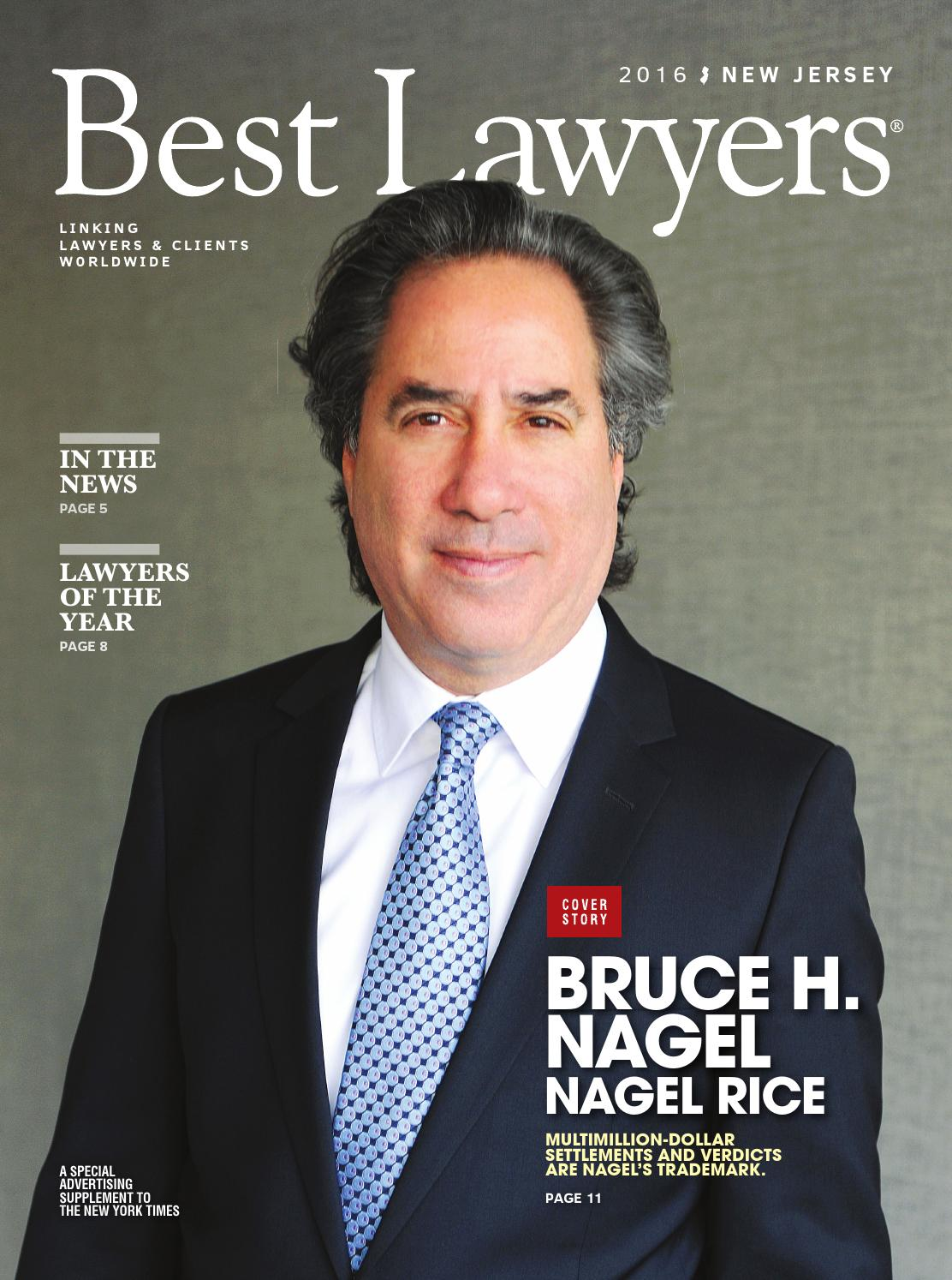 Best Lawyers In New Jersey 2016 By Best Lawyers Issuu