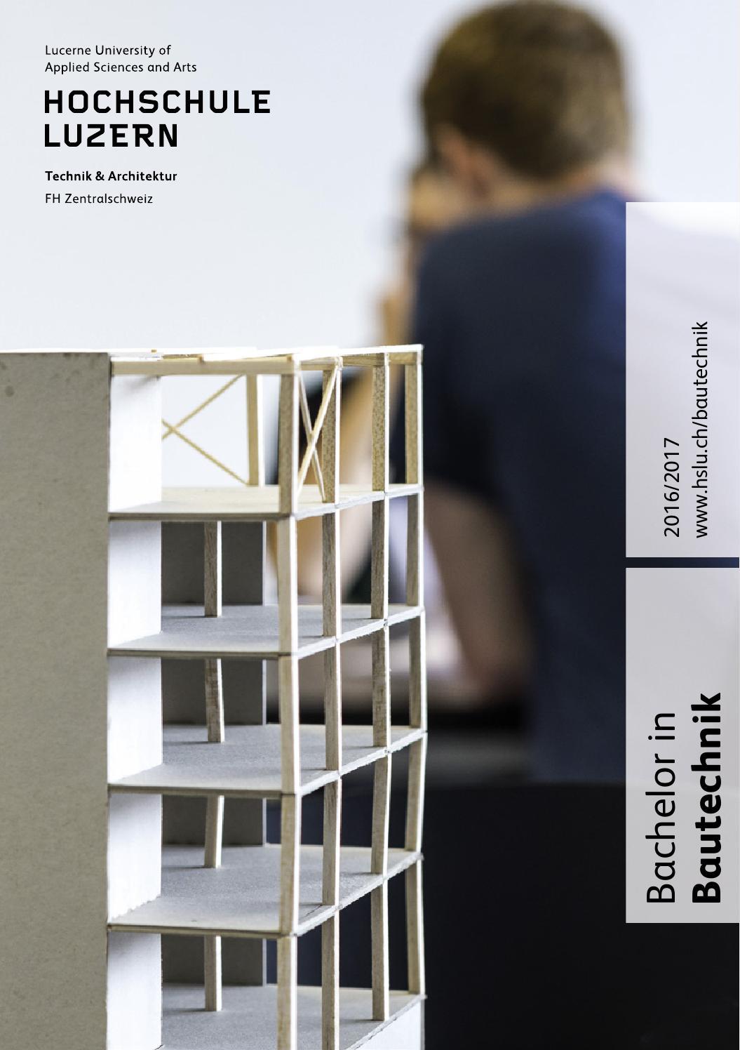 Studienf hrer bachelor bautechnik 2016 2017 by hochschule - Skelettbau architektur ...