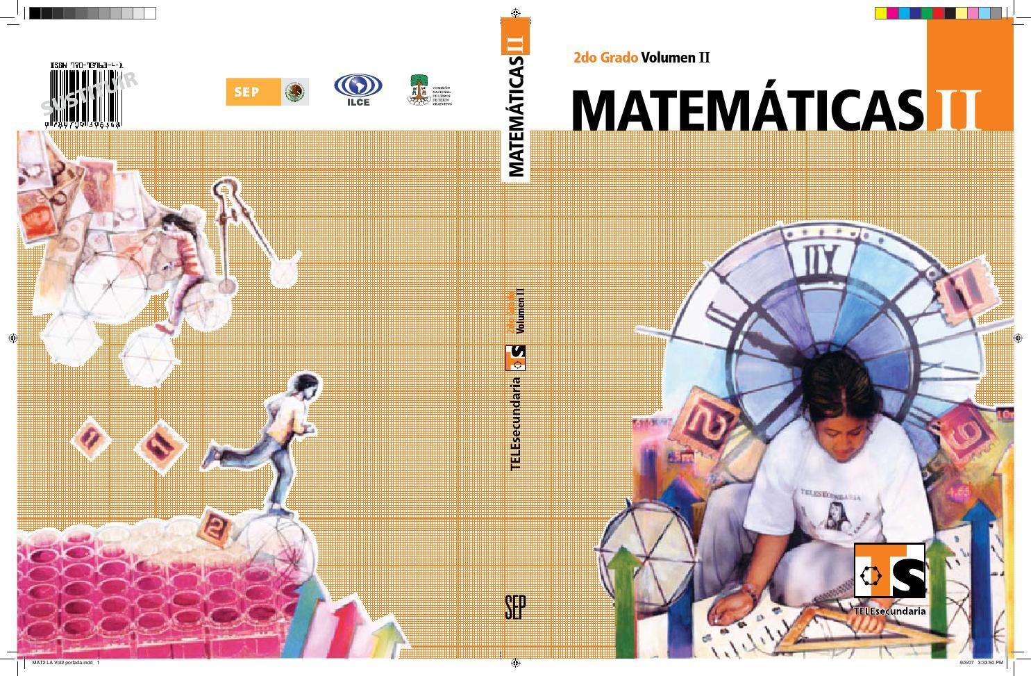 Libro De 2 Grado Secundaria Matematicas Contestado Ensayos