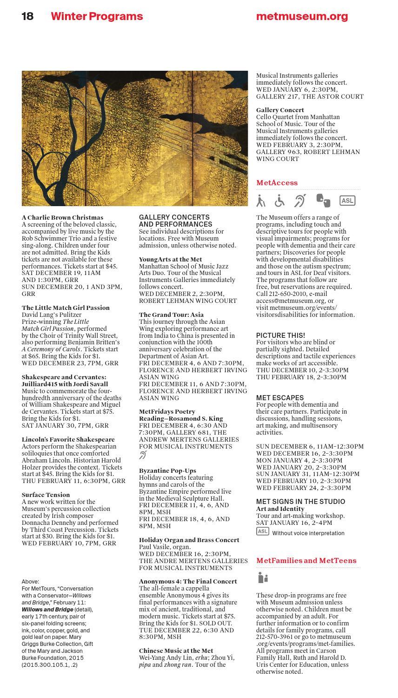 Met Art Calendar : Members calendar winter by the metropolitan