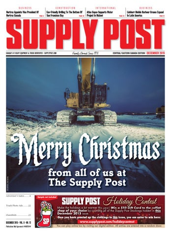 Supply Post Eastern Cover - December 2015