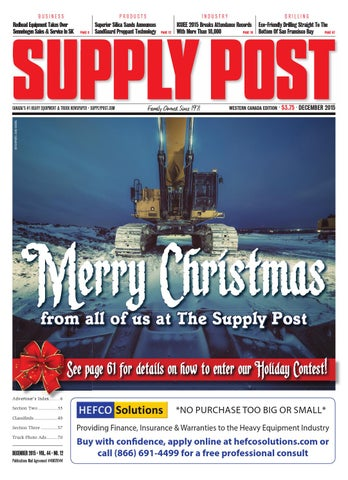 Supply Post Western Cover - December 2015