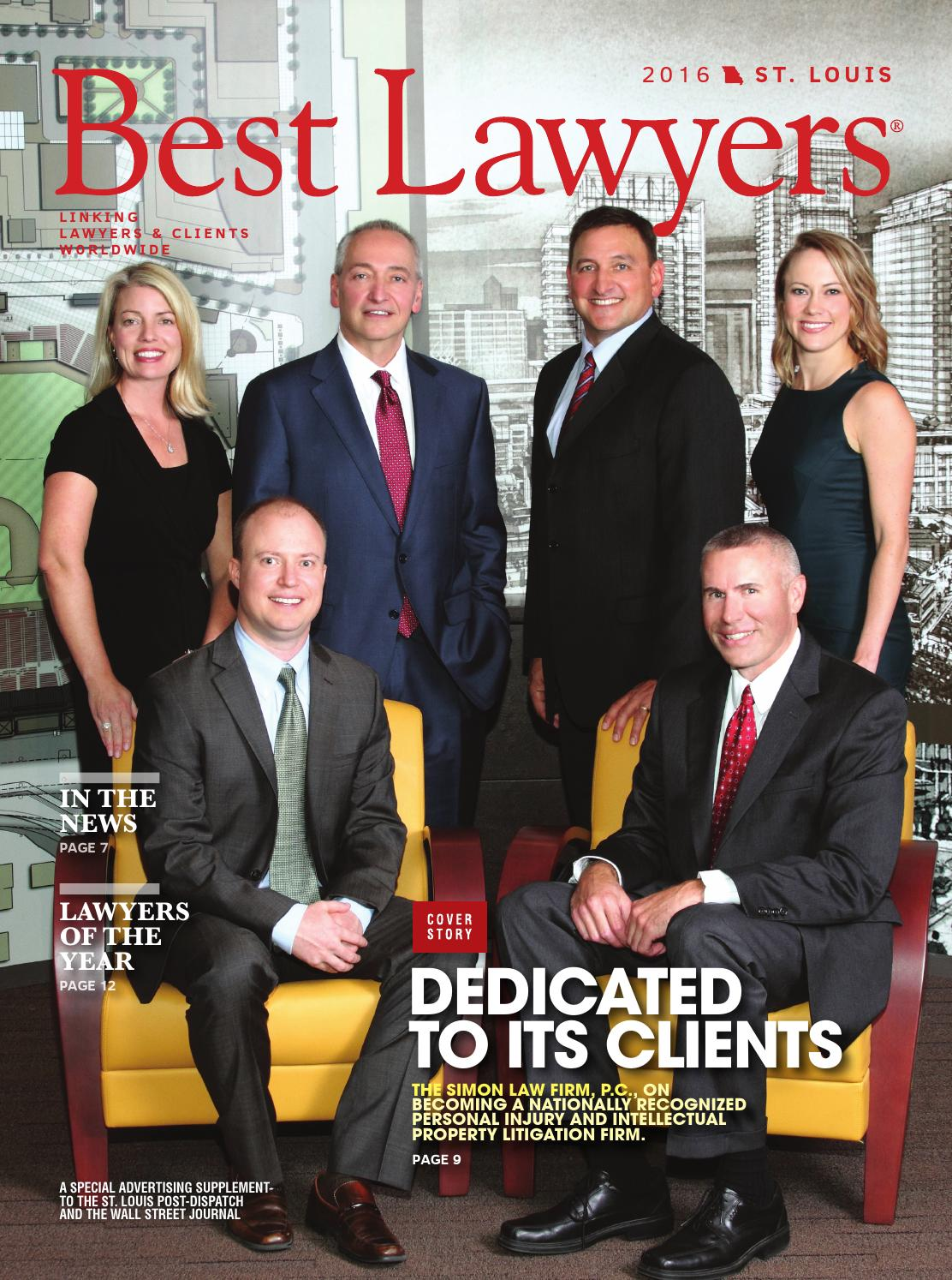 Best Lawyers In St Louis 2016 By Best Lawyers Issuu