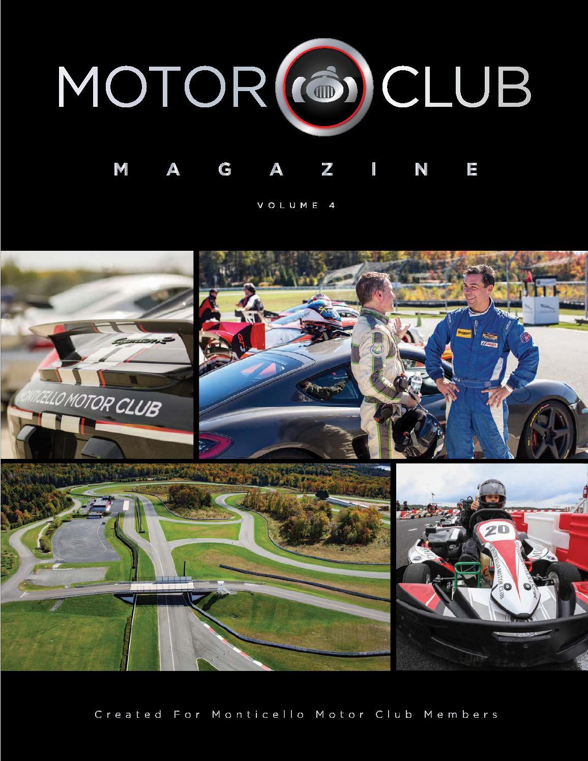 Motor Club Magazine Volume 4 By Monticello Motor Club
