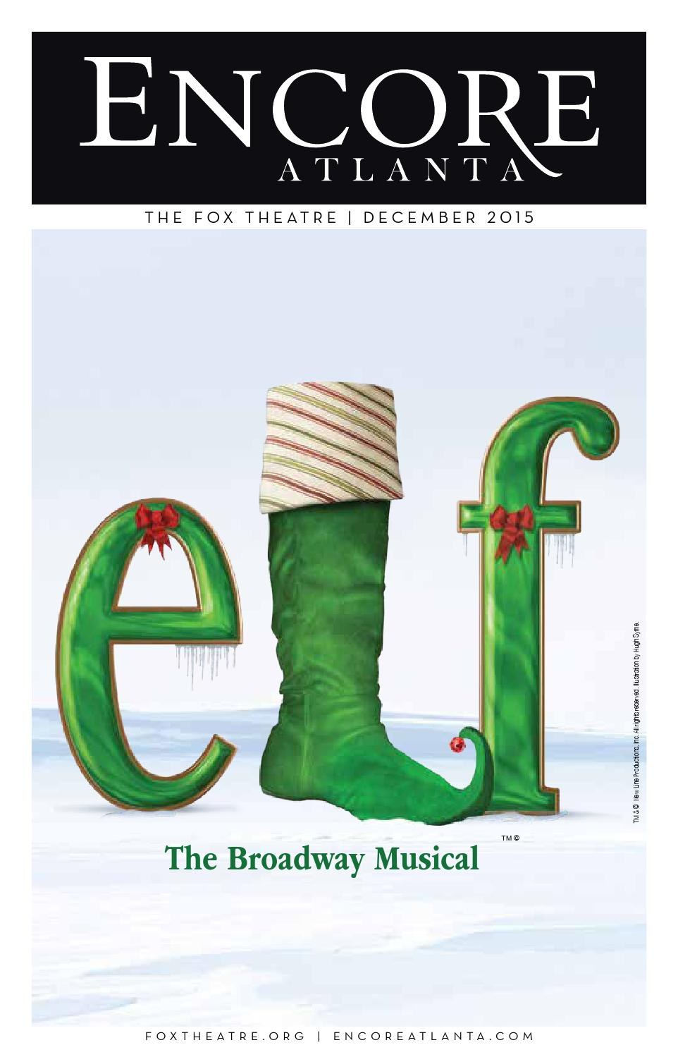 december 2015 elf �the broadway musical at the fox