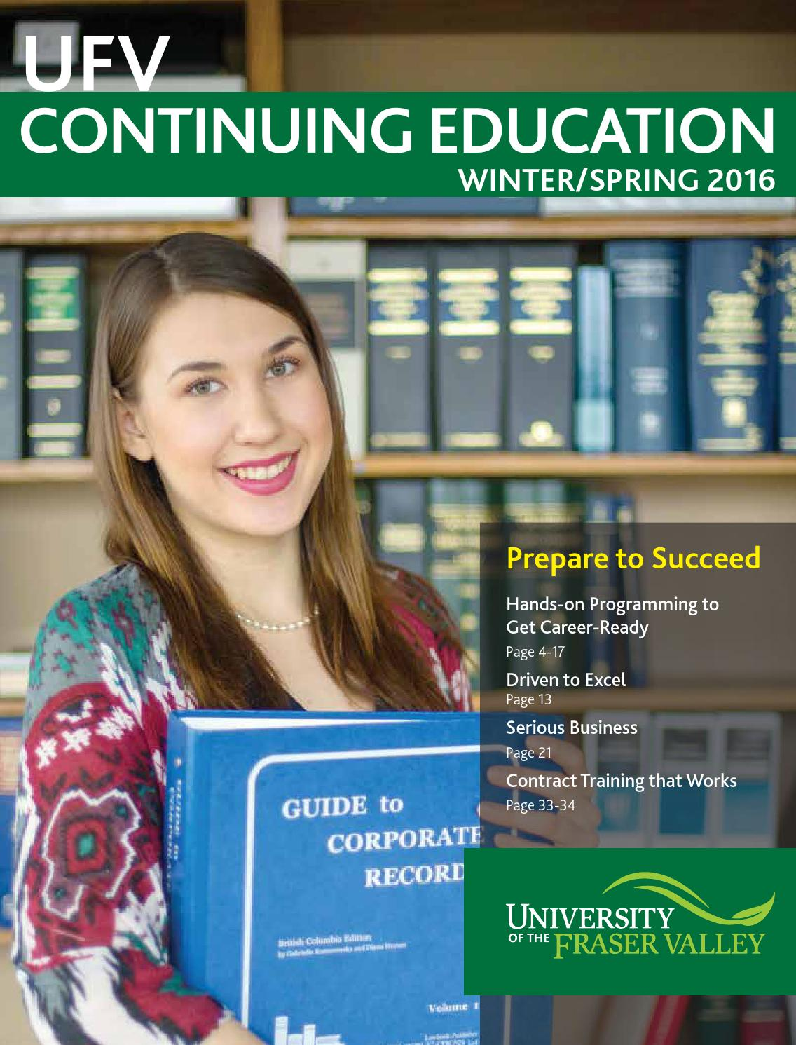 Ubc continuing education technical writing