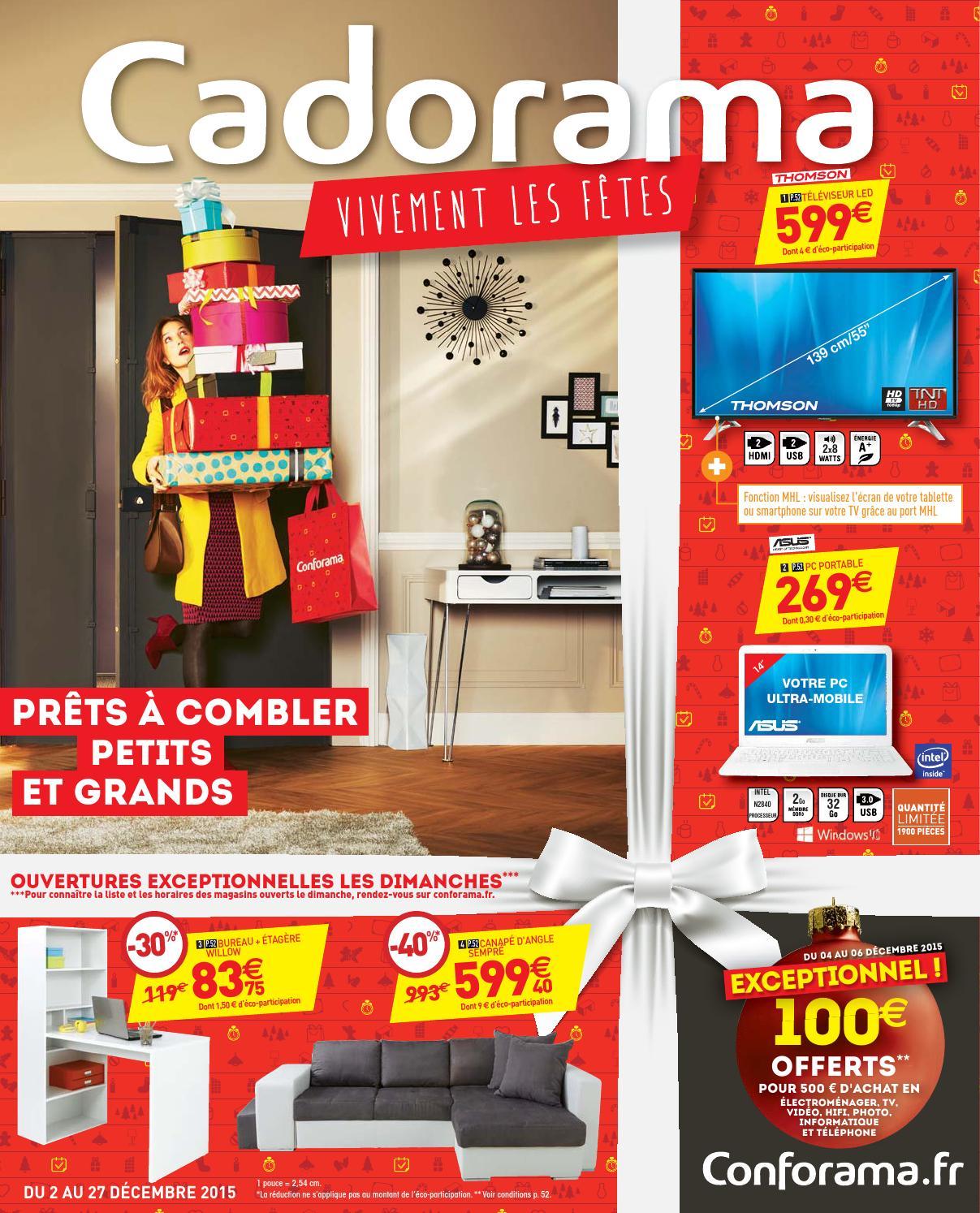 conforama catalogue 2 27decembre2015 by issuu. Black Bedroom Furniture Sets. Home Design Ideas