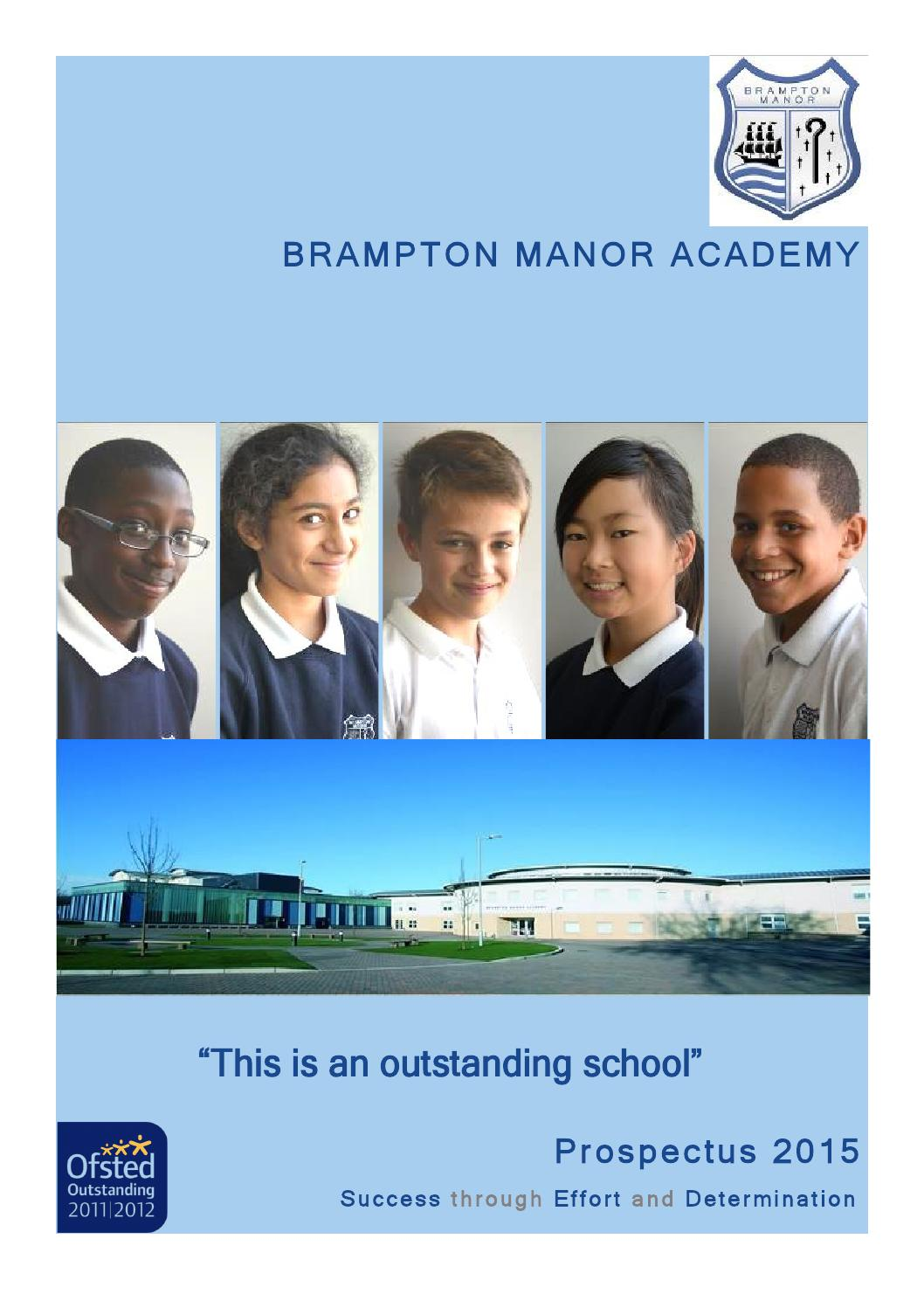 Brampton Manor Academy Prospectus 2015 By Fse Design Issuu