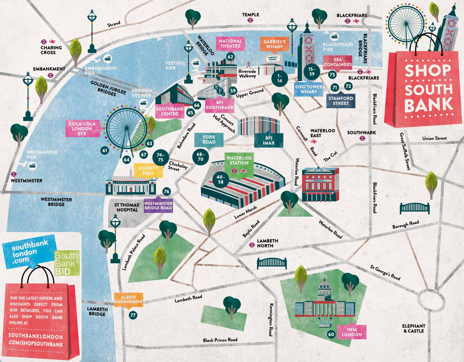 shop south bank map by south bank london issuu. Black Bedroom Furniture Sets. Home Design Ideas
