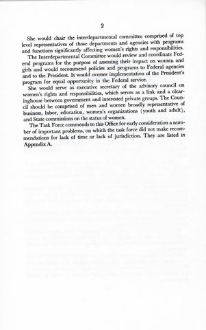 A Matter of Simple Justice - Report of the President's Task Force on Women's Rights, Page 11