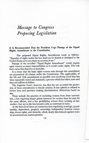A Matter of Simple Justice - Report of the President's Task Force on Women's Rights, Page 13