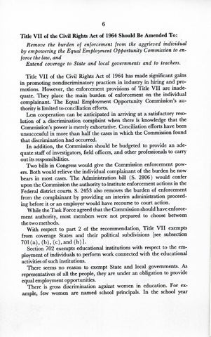 A Matter of Simple Justice - Report of the President's Task Force on Women's Rights, Page 15