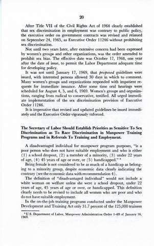 A Matter of Simple Justice - Report of the President's Task Force on Women's Rights, Page 29