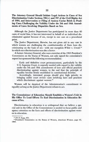 A Matter of Simple Justice - Report of the President's Task Force on Women's Rights, Page 31