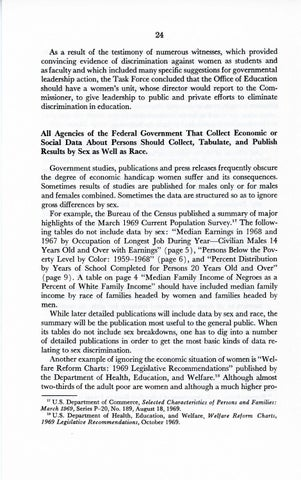 A Matter of Simple Justice - Report of the President's Task Force on Women's Rights, Page 33