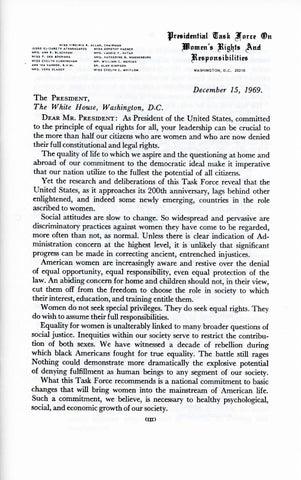 A Matter of Simple Justice - Report of the President's Task Force on Women's Rights, Page 3