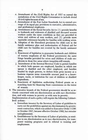 A Matter of Simple Justice - Report of the President's Task Force on Women's Rights, Page 5