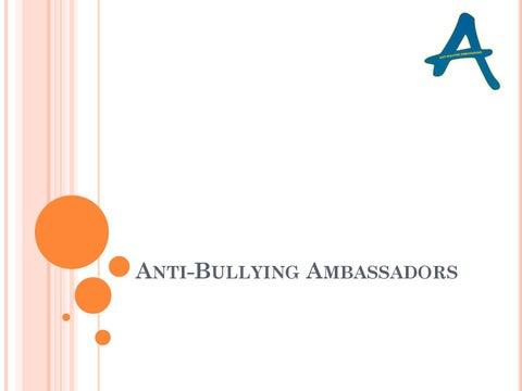Anti bullying ambassadors final -- Tuxford Academy