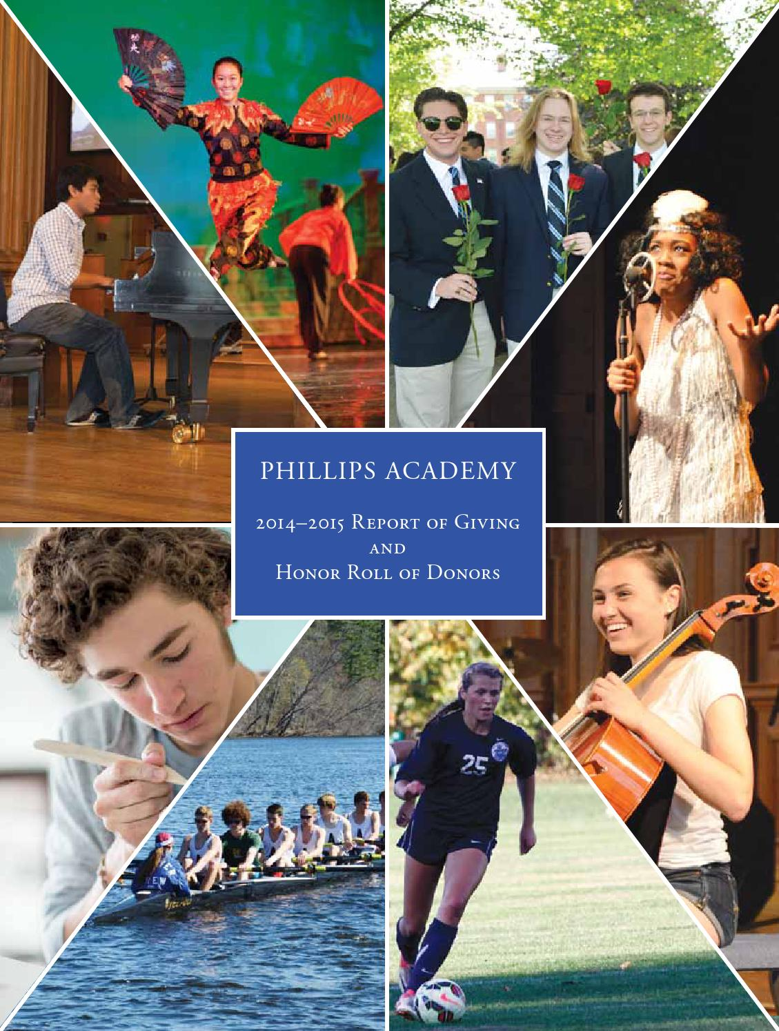 2015 Report Of Giving By Phillips Academy Issuu