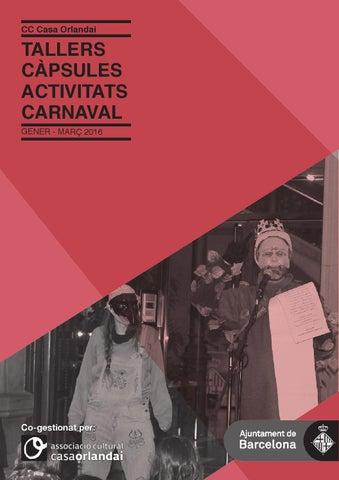 2016 Programa trimestral d'activitats
